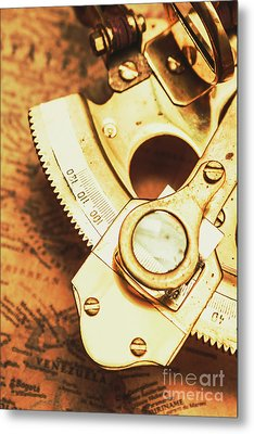 Sextant Sailing Navigation Tool Metal Print by Jorgo Photography - Wall Art Gallery