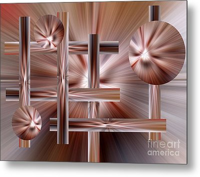 Shades Of Coffee Metal Print