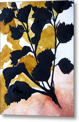 Metal Print featuring the painting Shadow Hibiscus by Lil Taylor