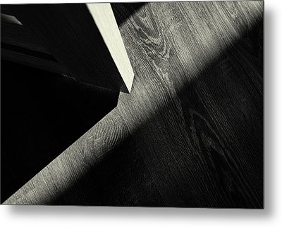 Metal Print featuring the photograph Shadow Light Door Abstract One by John Williams