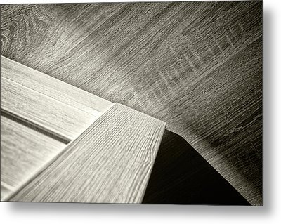 Metal Print featuring the photograph Shadow Light Door Abstract Two by John Williams