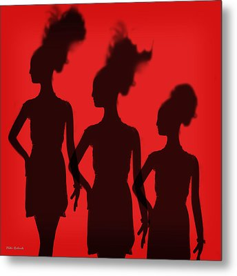 Shadow Of Chic Metal Print