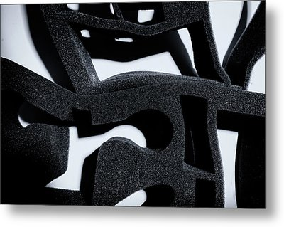 Metal Print featuring the photograph Shadow Of Foam Abstract One by John Williams