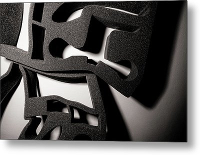 Metal Print featuring the photograph Shadow Of Foam Abstract Two by John Williams