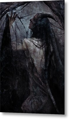 Shadow Veil Metal Print by Cambion Art