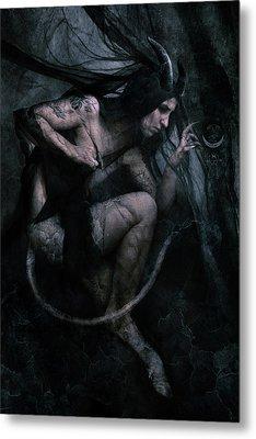 Shadow Veil II Metal Print by Cambion Art