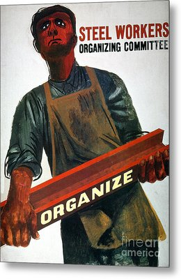 Shahn: Steel Union Poster Metal Print