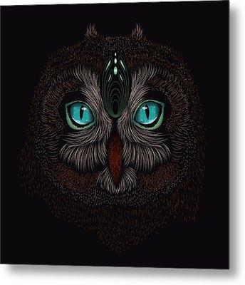 Shaman Spirit Owl Metal Print