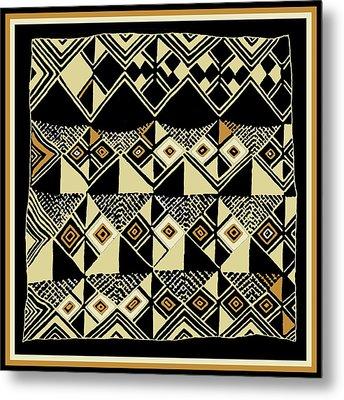 Metal Print featuring the digital art Shaman Tribal Kuba by Vagabond Folk Art - Virginia Vivier