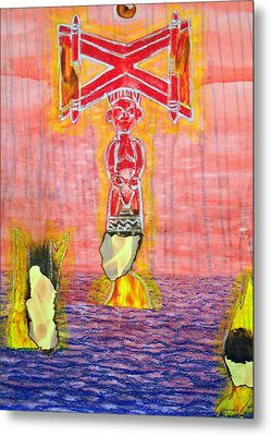 Shango Metal Print by Duwayne Washington
