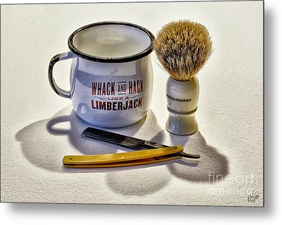 Metal Print featuring the photograph Shaving Still Life by Walt Foegelle