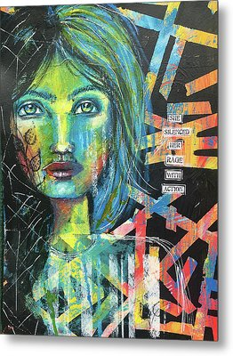 She Silenced Her Rage With Action Metal Print