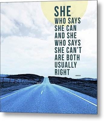 She Who Can- Art By Linda Woods Metal Print