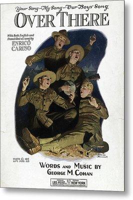 Sheet Music Cover, 1918 Metal Print by Granger