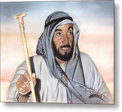 Sheik Zayed Metal Print by Nanybel Salazar