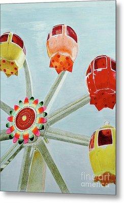 Sherbert Ferris Wheel Metal Print by Glenda Zuckerman