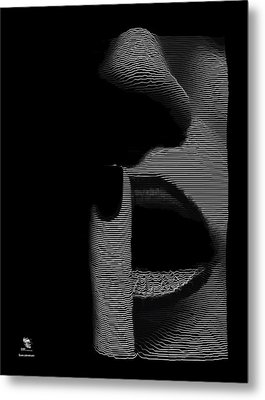 Shhh Metal Print by ISAW Gallery