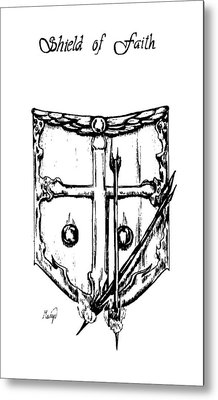 Shield Of Faith Metal Print by Maryn Crawford