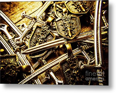 Shields And Swords Weapons Metal Print by Jorgo Photography - Wall Art Gallery