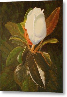 Shining Magnolia Metal Print