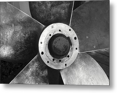 Ship Propeller  Metal Print by John  Mitchell