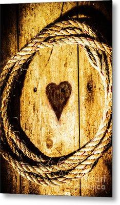 Ship Shape Heart Metal Print
