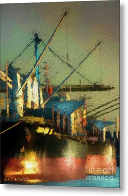 Ships Metal Print by Marvin Spates