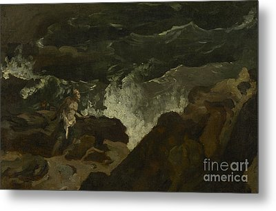 Shipwrecked On A Beach Metal Print by Theodore Gericault