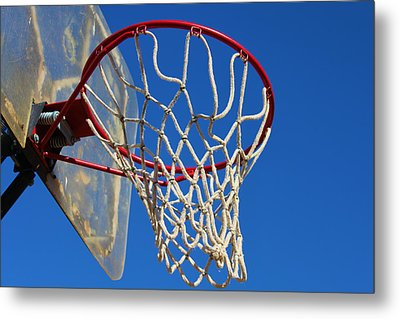 Shootin Hoops Metal Print by Karen M Scovill