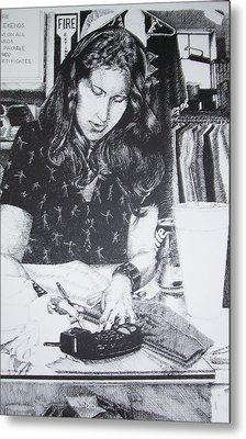 Shop Girl Metal Print by Kathleen Romana