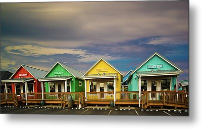 Shops Of Ocean Shores Metal Print