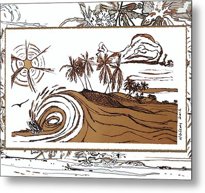 Shore Break Left Metal Print