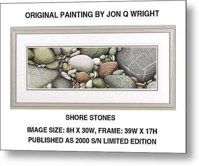 Shore Stones Metal Print by Jon Q Wright