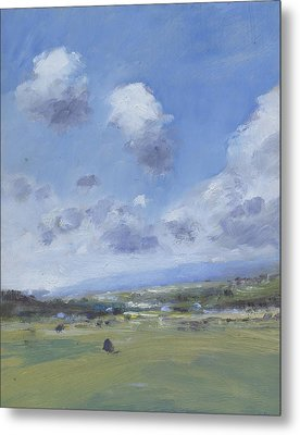 Shower Clouds Over The Yar Valley Metal Print by Alan Daysh