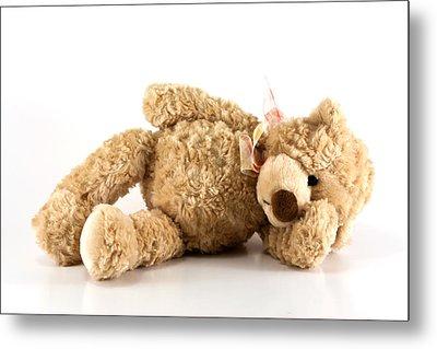 Sick Teddy Bear Metal Print by Blink Images