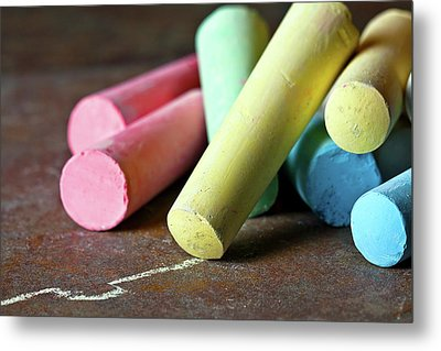 Sidewalk Chalk I Metal Print by Tom Mc Nemar