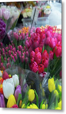 Metal Print featuring the photograph Sidewalk Flowers by Lora Lee Chapman