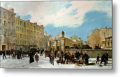Siege Of Paris Metal Print by Jacques Guiaud