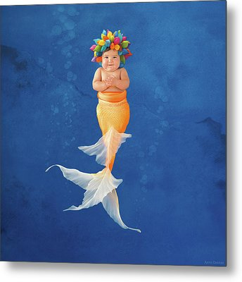 Sienna As A Mermaid Metal Print by Anne Geddes