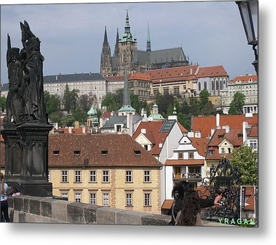 Metal Print featuring the pyrography Sight At Prague by Yury Bashkin