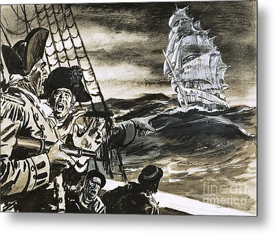 Sighting Of A Ghost Ship Metal Print by Ralph Bruce