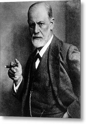 Sigmund Freud 1856-1939, Photograph Metal Print by Everett