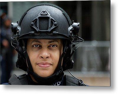 Sikh Day Nyc 2017 Female Anti Terrorist Police Officer Metal Print