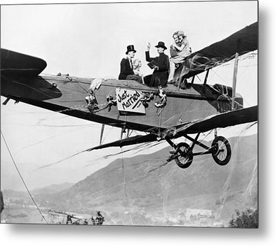 Silent Film Still: Stunts Metal Print by Granger