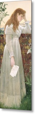 Silent Sorrow Metal Print by Walter Langley