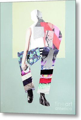 Metal Print featuring the mixed media Silhouette by Elena Nosyreva