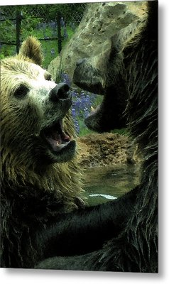 Metal Print featuring the digital art Silly Bears by Holly Ethan