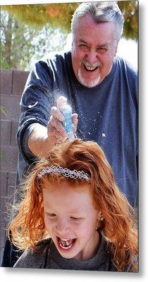 Silly String Attack Metal Print