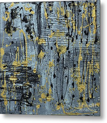Metal Print featuring the painting Silver And Gold  by Cathy Beharriell