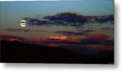 Silver Valley Moon Metal Print